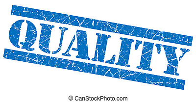 Quality grunge blue stamp