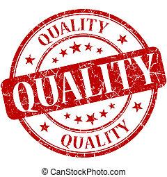 Quality grunge red round stamp