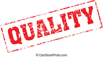 quality - Grungy ink stamp, vector format very easy to edit
