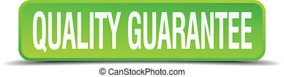 quality guarantee green 3d realistic square isolated button