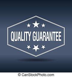 quality guarantee hexagonal white vintage retro style label