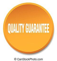 quality guarantee orange round flat isolated push button