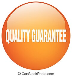 quality guarantee orange round gel isolated push button