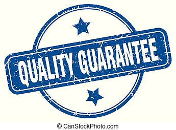 quality guarantee round grunge isolated stamp