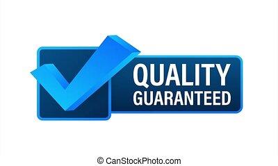Quality guaranteed. Check mark. Premium quality symbol. stock illustration