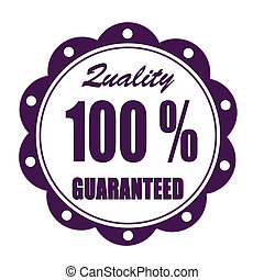 quality guaranteed grunge stamp whit on vector illustration