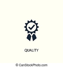 quality icon. Simple element illustration. quality concept symbol design. Can be used for web
