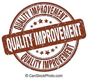 quality improvement brown grunge stamp