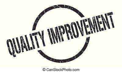 quality improvement stamp - quality improvement black round...