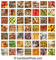 quality italian food collection - group of images from fresh...