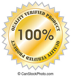 Quality label - Quality verified product label, vector ...
