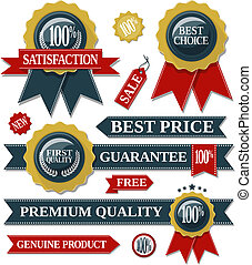 quality labels and seal ribbons