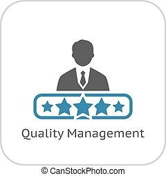 Quality Management Icon. Flat Design.