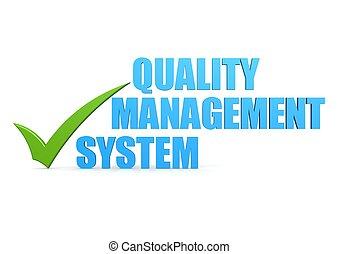 Quality management system - Hi-res original 3d-rendered...