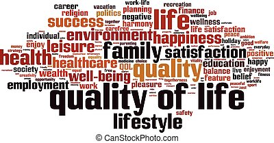 Quality of life-horizon - Quality of life word cloud concept...