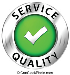 Quality of  service icon on white background