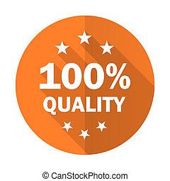 quality orange flat icon