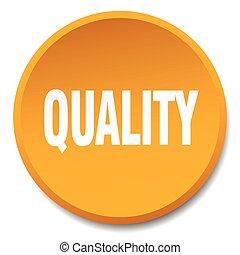 quality orange round flat isolated push button