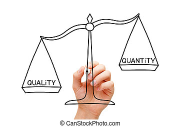 Quality Over Quantity Scale Concept