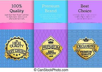 Quality Premium Brand Best Choice Set Golden Label