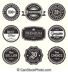 Quality premium vector seal label