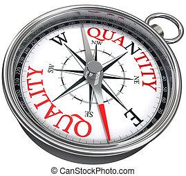 quality quantity concept compass - quality versus quantity...