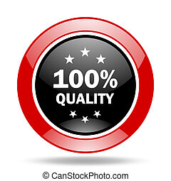 quality red and black web glossy round icon