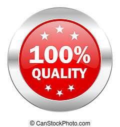 quality red circle chrome web icon isolated