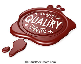 Quality red wax seal isolated