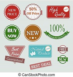 Quality retro badges collection - Quality retro badges and...