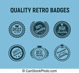 quality retro badges