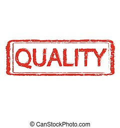 QUALITY rubber stamp text illustration