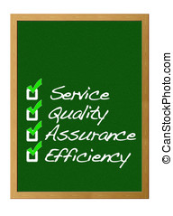 Quality. - Service, Quality, assurance, Efficiency.