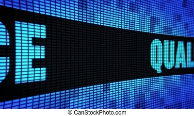 Quality Service Side Text Scrolling LED Wall Pannel Display...