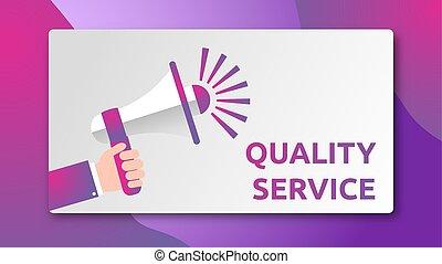 Quality service - SPEAKER CONCEPT