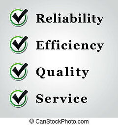 Quality service - Vector illustration of service, quality, ...