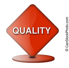 Quality sign - Computer generated web sign inscribed quality