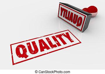 Quality Stamp Good Grate Rating Approval 3d Illustration