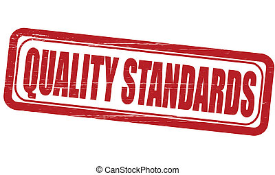 Quality standards - Stamp with text quality standards...