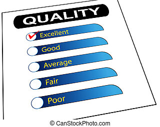 Quality survey report check list