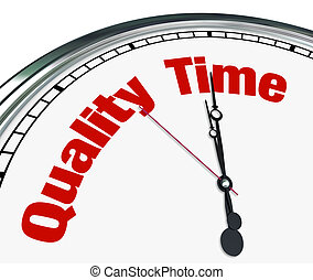 Quality Time - Clock Measuring Moments with Loved Ones - An...