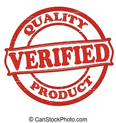 Quality verified and product