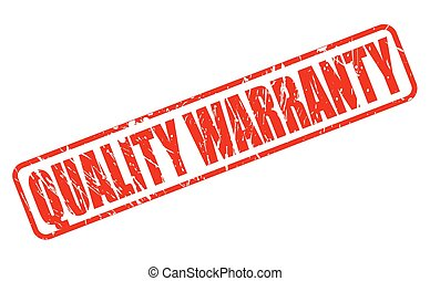 QUALITY WARRANTY red stamp text