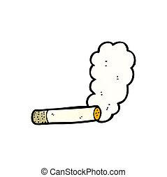qualmende , karikatur, zigarette
