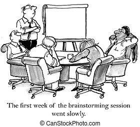 quand, séjour, ne pas pouvoir, éveillé, brain-storming, cadres