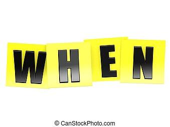 quando, em, nota amarela