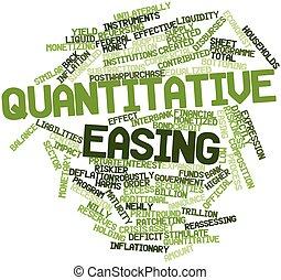Quantitative easing - Abstract word cloud for Quantitative...