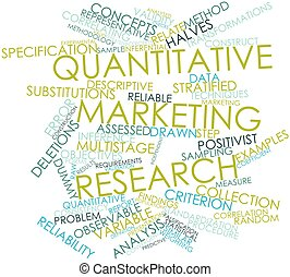 Quantitative marketing research - Abstract word cloud for...