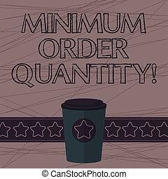 quantity., photo, vide, produit, signe, minimum, bande,...