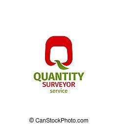 Quantity surveyor service badge - Quantity surveyor service...